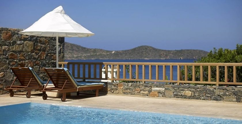 Elounda Mare Hotel Relais & Châteaux Terrace by the Pool