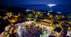 forte village resort aerial night