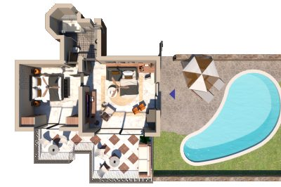 Premium One Bedroom Suite with Private Pool & Sea View
