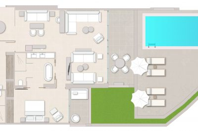 Deluxe Two Bedroom Suite Private Pool Sea View